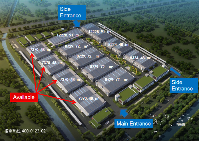 G2790 苏州太仓中德工业园三期 开发区政府自建标准厂房出租 单层可装行车 4000平起租