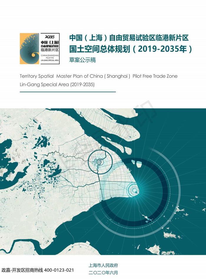 中国(上海)自由贸易试验区临港新片区 国土空间总体规划(2019-2035 年)草案公示案